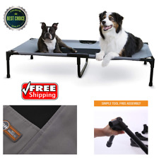 New listing X-Large Dog Bed Elevated Outdoor Raised Pet Cot Indoor Durable Steel Frame 32X50