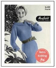 1950s Knitted Wiggle Dress - Vintage Knitting Pattern Copy
