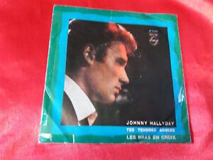 DISCO 45 giri   Johnny Hallyday – Tes Tendres Années  - 1963