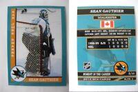 2015 SCA Sean Gauthier San Jose Sharks goalie never issued produced #d/10