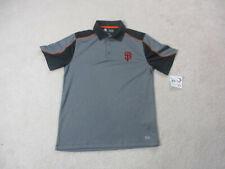 MLB San Francisco Giants Polo Shirt Adult Medium Gray Black Baseball Mens *