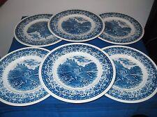 villeroy 6 assiettes dessert blue castle