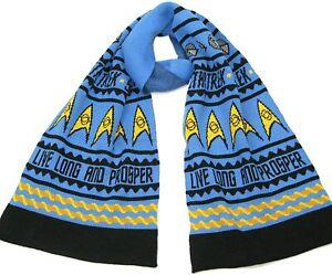 Live Long and Prosper Knitted Scarf - Official Star Trek Spock Merchandise - NEW