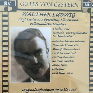 WALTHER LUDWIG: Originalaufnahmen 1932 -1935 (CD RV Musik 2617 / Mono / OVP)