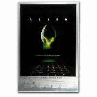 Large 2019 Tuvalu Alien Movie Poster 40th Anniv 35 gram Silver Foil in Display