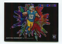 JUSTIN HERBERT 2020 Panini Obsidian Color Blast Rookie Card RC Chargers SP SSP