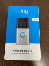 Ring Video Door Bell 3 RVD 3 Satin Nickel/Venetian Bronze