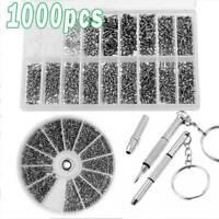 1000pcs Micro Brille Sonnenbrille Uhr Ersatz Schraube Reparieren Schraubendreher