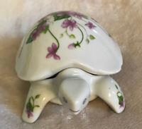 Vintage Porcelain Turtle Figurine Candle Collectible - Prestige Place