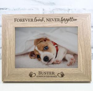 Personalised Dog Photo Frame Wooden Engraved