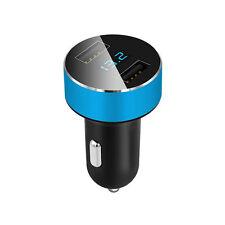 Car Charger 5V 3.1A Charge Dual USB Port Cigarette Lighter Adapter Voltage Blue
