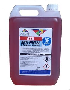 Odessa Red Antifreeze & Summer Coolant Concentrate For All Engine Types - 5L