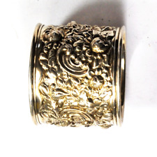 "Sterling Silver Gorham B2 Flower Rose Repousse Napkin Ring 1-7/8"" x 1-1/2"""