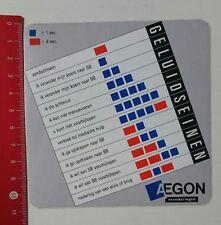Aufkleber/Sticker: AEGON verzekeringen - Geluidseinen (19021753)
