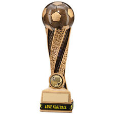 6x 180mm Football Trophy Awards & wristbands (RRP £57.00) free postage/engraving