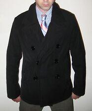 Neil Barrett Black Double Collar Men's Peacoat - Model #BCA82 - Size IT48/US38
