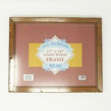 """Solid Wood All Purpose Picture Frame 11"""" x 14"""" Walnut Stained w/ Mounting Hdwr"""