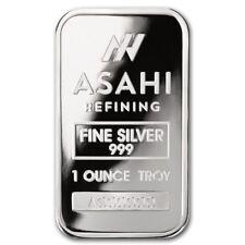 Lingot ASAHI 1 Once d'argent pur 999 / ASAHI 1 Troy Ounce Oz Fine Silver Bar 999