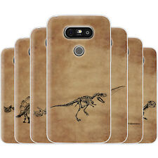 Dessana Skeleton Dinosaur TPU Silicone Protection Case Phone Cover For LG
