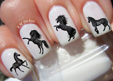 Black Horse Nail Art Stickers Transfers Decals Set of 40