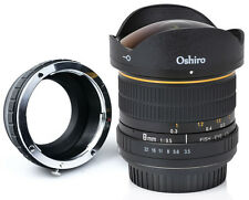 Oshiro 8mm Fisheye Lens for Panasonic Lumix G7 GM5 GH4 GM1 GX85 GX8 GF6 GH3 GH2