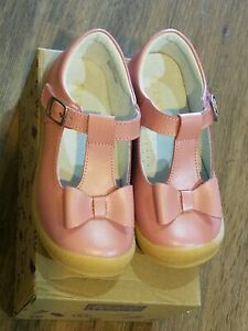 """New L'amour rose leather """"Emma"""" bow mary jane shoes, toddler 7,NIB"""