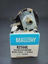 2.5K Ohm 3W Wirewound Control Potentiometer - MALLORY R2500L