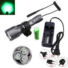 Grün 3x Q5 XPE LED 10000LM Taschenlampen Torch Jagd Lampe 18650 Switch Ladegerät