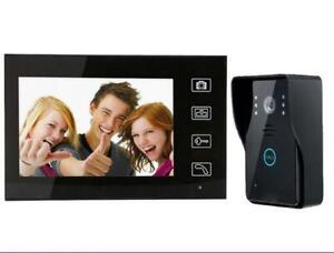 Sonnette vidéo sans fil sans fil avec interphone et technologie tactile J