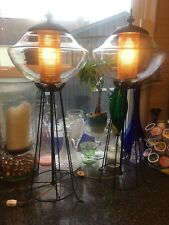 RARE AND UNIQUE PAIR OF VINTAGE LANTERN LOOK ELECTRIC LAMPS!!!!!