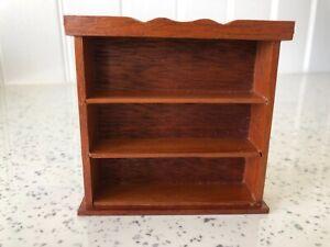 Dolls house miniature 1:12 HANDMADE wall unit / shelves / bookcase