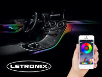 LETRONIX RGB LED Ambientebeleuchtung 6er Set Audi A5 A6 A7 A8 Q5 Q7 R8 TT V8