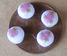 1:12 Scale4 Rose Pattern Ceramic Door Knobs Handles Dolls House Accessories 682