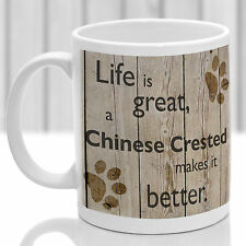 Chinese Crested dog mug, Chinese Crested gift, ideal present for dog lover