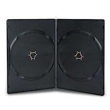 100 X Nero Doppio 7mm spina dorsale DVD/CD/Blu Ray caso da Dragon Trading ®