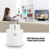 Mini 16A Wi-Fi Enabled Smart Enchufe Control Energía  De Enchufe EU PLUG Remote