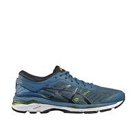Asics GEL-Kayano 24 [T749N-4590] Men Running Shoes Ink Blue/Black-Volt