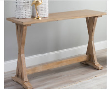 Rustic Console Table Solid Wood Accent Entry Slim Narrow Hall Display NEW