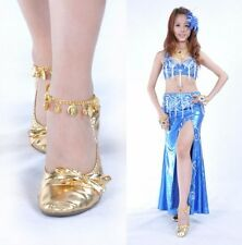 1pc Women Anklets Bells Coins Belly Dance Accessories Costumes Golden