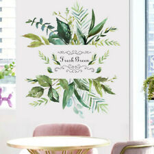 Green Leaf Rustic Style Wall Sticker Living Room TV Background Wall Sticker
