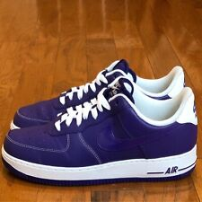 "buy popular 4fbff b2f8a VNDS Condition 2011 Nike Air Force 1 Low ""Purple White"" sz 9.5 AF1"
