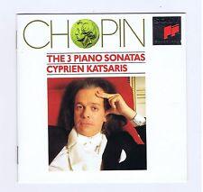 CHOPIN CD PIANO SONATAS 1.2.3 / CYPRIEN KATSARIS