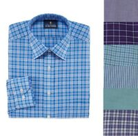 Stafford Mens Travel Broadcloth Dress Shirt 14.5 15 15.5 16 16.5 17 17.5 18 NEW