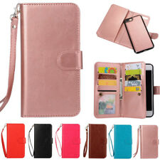 Removable Magnetic Flip Leather Wallet Case Cover For iPhone 5 6 X 7 8 Plus