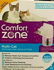 New! Comfort Zone Multi Cat Calming Diffuser Kit For Cats & Kittens