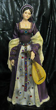 NIB Anne Boleyn Queen of England Mandolin Figurine King Henry VIII Wife Tudor
