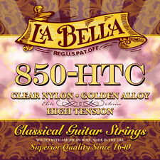 LaBella 850-HTC ELITE – CLEAR NYLON, GOLDEN ALLOY, HIGH TENSION GUITAR STRING