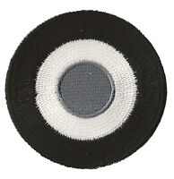 Patche patch écusson Cocarde Noir Blanc thermocollant