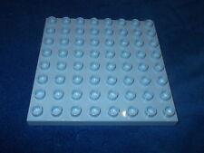 Lego Duplo Bauplatte 8 x 8er Noppen Platte Krankenhaus 6490 Hellblau selten