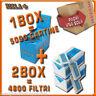 5000 CARTINE RIZLA CORTE BLU=1box + 4800 FILTRI 5,5MM RIZLA ULTRASLIM 2box